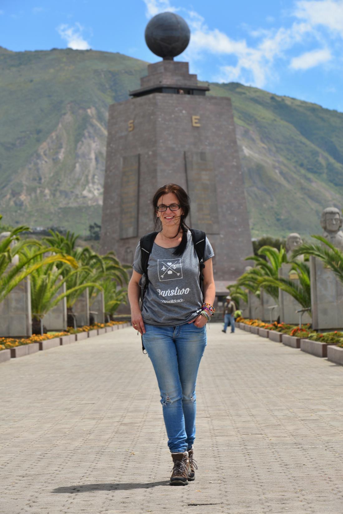 Ekwador Mitad Del Mundo Państwo na Walizkach Równik