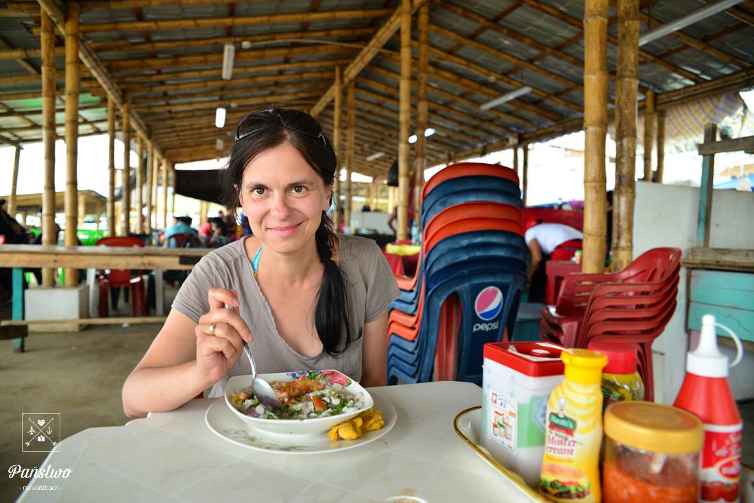 Puerto Lopez ceviche na plaży