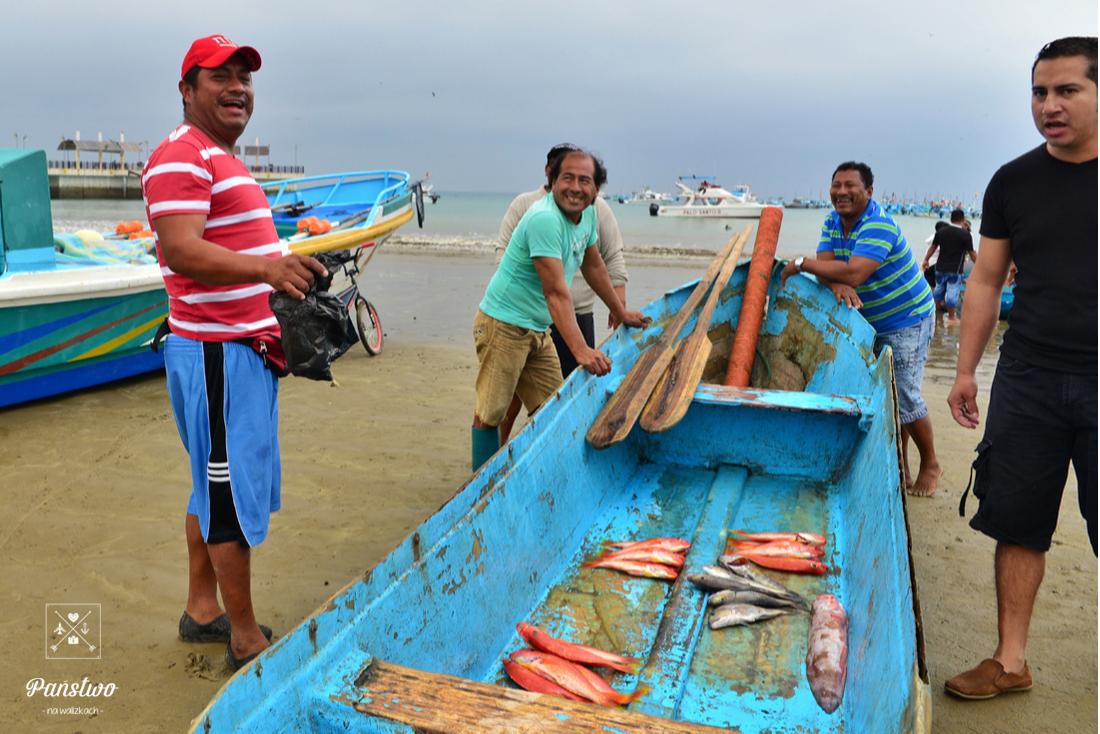Puerto Lopez Ekwador rybacy