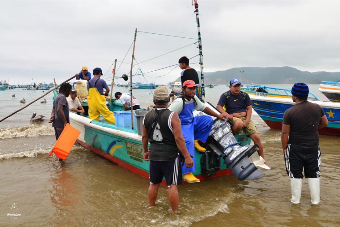Ekwador Puerto Lopez rybacy